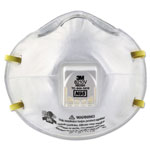 3M Particulate Respirator 8210V, N95, Cool Flow Valve, 80/Carton