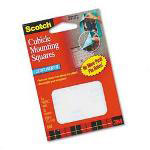 "3M Cubicle Mounting Squares, Lightweight, Removable, 11/16"" Squares, 35/Pack"