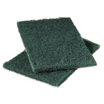 Scotch Brite® Commercial Heavy-Duty Scouring Pad, Green, 6 x 9, 12/Pack