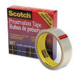 "Scotch Clear Preservation Tape, Glossy Surface, 1"" Core, 1"" x 36 Yard Roll"