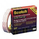 "3M Double Coated Preservation Tape, 1"" Core, 1/4"" x 36 Yard Roll"