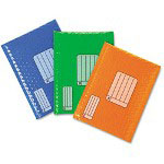 3M Smart Mailer, #0, Blue, Green, Red, 6/Pack