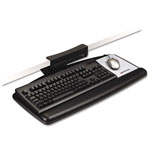 3M No Tools Required Keyboard Platform, Adjustable Height/Tilt/Swivel, Black