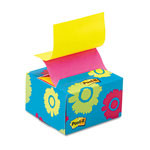 Post-it® Pop-up Notes in a Desk Grip Decorative Box, 3 x 3, Daisy