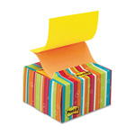 Post-it® Pop-up Notes in a Desk Grip Decorative Box, 3 x 3, Multicolor Stripes