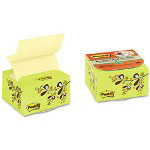 Post-it® Recycled Pop-up Notes in a Desk Grip Decorative Box, 3 x 3, Green/Leaf Design