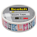 "Scotch Expressions Washi Tape, .59"" x 393"", Illustrated Alpha"