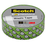 "Scotch Expressions Washi Tape, .59"" x 393"", Silver Glasses"