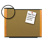 3M Cork Bulletin Board, 48 x 36, Light Cherry Frame