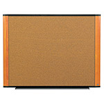 3M Light Cherry Frame Cork Board with Graphite Blend, 6'' x 4''