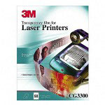 "3M CG3300 Black & White Laser Printer Transparencies, 8-1/2"" x 11"""