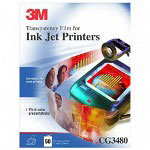 "3M CG3480 General Purpose Ink Jet Transparency Film, 8 1/2"" x 11"""
