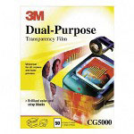 3M Dual-Purpose Transparency Film, Letter, Clear, 50/Box