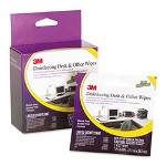 3M CL554 Disinfecting Desk & Office Wipes Travel Pack