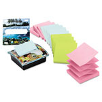 Post-it® Designer Series Pop Up Dispenser for 3x3 Notes, with 12 Aquatic Pads/Pack
