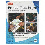 3M Print to Last Coated Waterproof Paper for Laser Printer, 8 1/2x11, White, 100/Pack