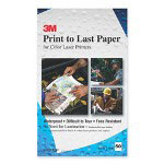 3M Print to Last Coated Waterproof Laser Paper, Perforated, 8 1/2x14, White, 50/Pack