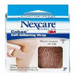 "3M Self Adherent Coban Wrap, 3""x5 Yards Stretched, Tan"