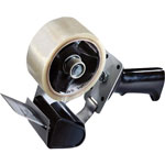 "Tartan™ Pistol Grip Box Sealing Tape Dispenser, 3"" Core, Black"