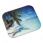 "3M Mouse Pad with Precise Mousing Surface, 9"" x 8"" x 1/8"", Tropical Beach Design"