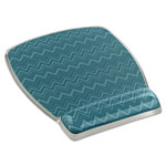 3M Fun Design Clear Gel Mouse Pad Wrist Rest, 6 4/5 x 8 3/5 x 3/4, Chevron Design