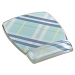 3M Fun Design Clear Gel Mouse Pad Wrist Rest, 6 4/5 x 8 3/5 x 3/4, Plaid Design