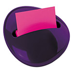 "Post-it® 3"" x 3"" Pebble Pop-up Note Dispenser, Purple"