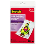 3M Self Sealing Glossy Laminating Pouches for 4x6 Photos/Documents, 9.6 mil., 5/Pack