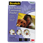 Scotch Self-Sealing Laminating Pouches, 9.5 mil, 4 x 6, Photo Size, 5/Pack