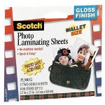 3M Laminating Sheets, Photo Safe, Two Sided, 2x3, Clear