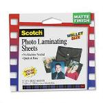 3M Self Sealing Matte Laminating Pouches for Items to 2 1/2x3 1/2, 9.6 mil., 5/Pack