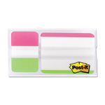 Post-it® Mobile Attach and Go Tabs Dispenser, 12 2 x 1 1/2,12 1 x 1 1/2, Assorted Bright
