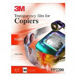 3M PP2200 Recycled Plain Paper Copier Transparency Film w/Removable Sensing Stripe