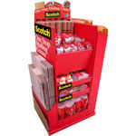 3M Mailing Supplies Display, Floorstand, Red