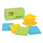 Post-it® Pop Up 3 x 3 Note Pad Refills, Ultra Colors, 12/Pack