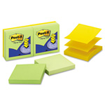 "Post-it® 3"" x 3"" Pop-up Apple Fresh Note, Assorted"