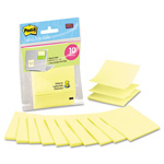 Post-it® Laptop Pop-up Notes Refill, 3 x 3, Canary Yellow, 10 20-Sheet Pads/Pack
