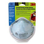 3M Odor Respirator, f/ Cleaning/Bleach, 1/PK, White