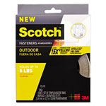 "Scotch Heavy Duty Fasteners, 1"" x 15 ft., Clear"