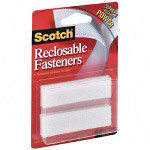 "3M Reclosable Fasteners, 3/4""x3"", 8/Pack, White"