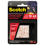 "Scotch Heavy Duty Fasteners, 1"" x 1"", Clear, 6/Pack"