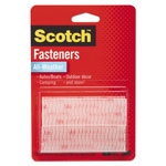 "Scotch Hook and Loop Fastener Tape, 1"" x 3"", two sets, Clear"