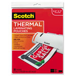 3M Letter size thermal laminating pouches, 3 mil, 11 1/2 x 9, 20/pack