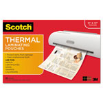 "Scotch Thermal Lam Pouches, 3 Mil, 11-2/5"" x 17-2/5"", 25SH/PK, CL"