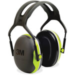 3M Earmuff Headband, Peltor X4A, 27dB NRR, Black/Green
