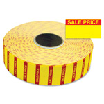 "Monarch Sale Price Labels, f/1131, 25/32"" x 7/16"", Yellow"