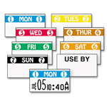 Monarch Color Coded Labels, Saturday, White, 2500 Labels/Roll