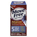Move Free® Move Free Advanced Plus MSM & Vitamin D3 Joint Health Tablet, 80 Count, 12/Carton