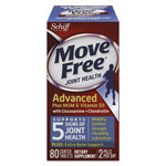 Move Free® Advanced Plus MSM & Vitamin D3 Joint Health Tablet, 80 Count, 12/Ctn