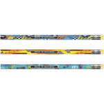 Moon Products Assorted Barrel Decorated Woodcase Pencil, 2.1 mm